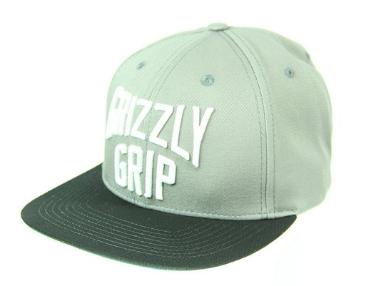 Boné Masculino Grizzly Big City Aba Reta Snap Back - Cinza/Preto