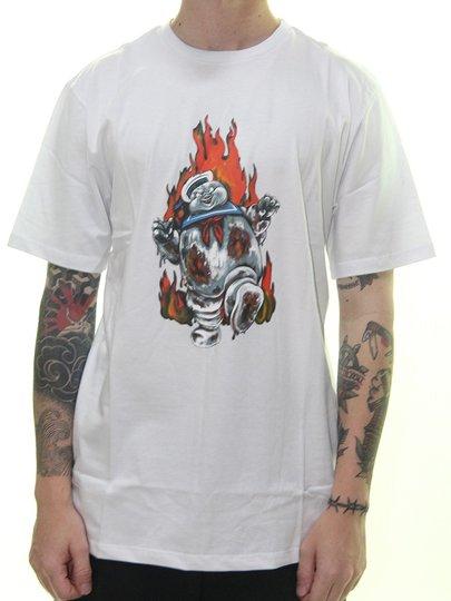 Camiseta Masculina Element Inferno Manga Curta Estampada - Branco