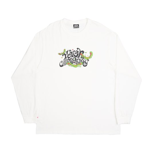 Camiseta Masculina High Groove Manga Longa Estampada - Branco