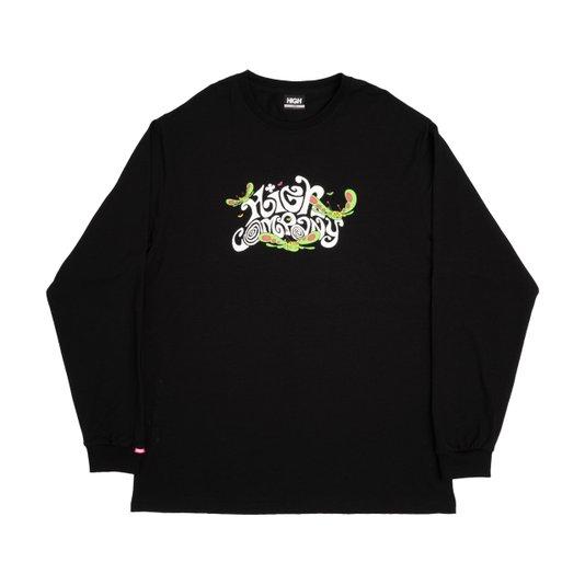 Camiseta Masculina High Groove Manga Longa Estampada - Preto