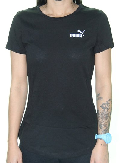 Camiseta Feminina Puma Essentials Tee Manga Curta - Preto