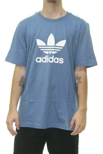 Camiseta Masculina Adidas Trefoil Manga Curta Estampada - Azul
