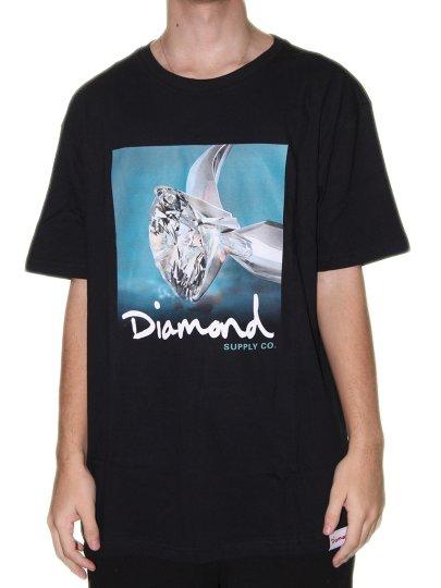 Camiseta Masculina Diamond Shimmer Manga Curta - Preto