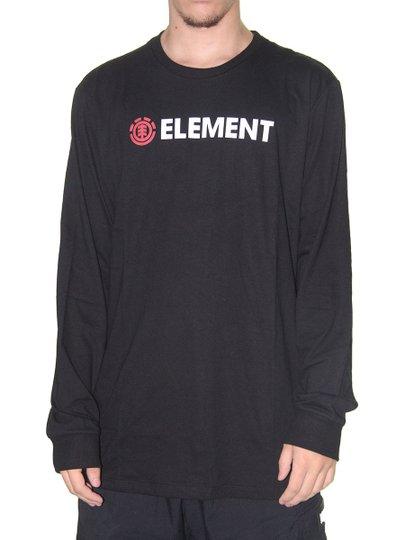 Camiseta Masculina Element Manga Longa Blazin Estampada - Preto