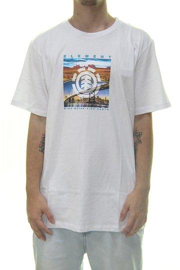 Camiseta Masculina Element Peoria Manga Curta Estampada  - Branco