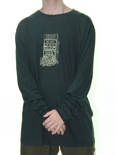 Camiseta Masculina High Prize Manga Longa Estampada - Verde