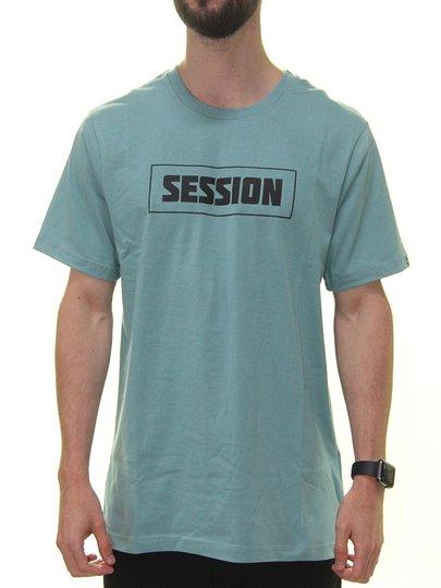 Camiseta Masculina Session Letter Manga Curta Estampada - Verde