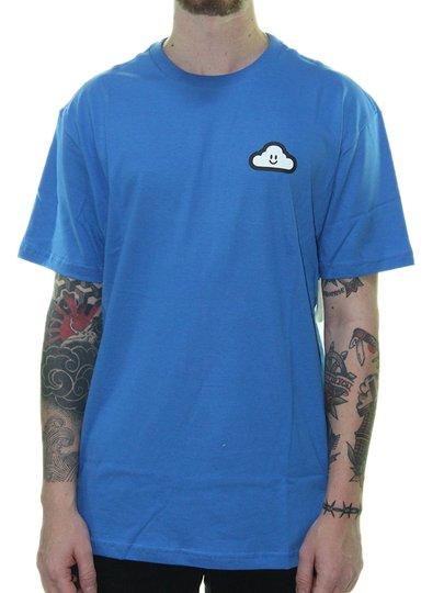 Camiseta Masculina Thank You Cloud Icon Manga Curta Estampada - Azul