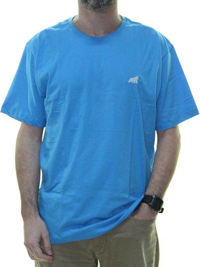 Camiseta Masculina Gorillas Tog Básica Bordada Manga Curta - Azul