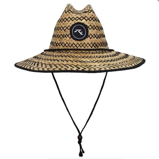 Chapéu de Palha Rusty Straw Lifeguard - Palha/Preto