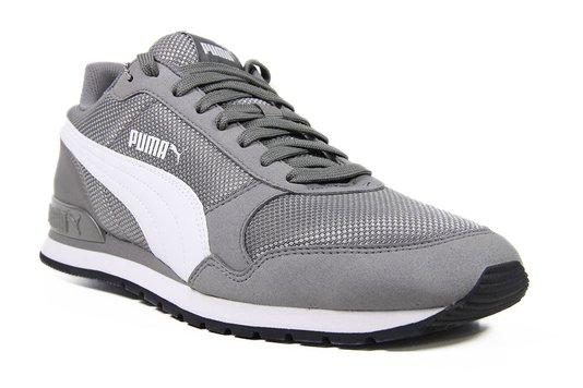 Tênis Masculino Puma Runner V2 Mesh - Gray/White