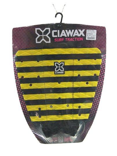 Deck para Surf Ciawax Freza - Preto/Amarelo