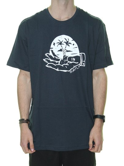 Camiseta Masculina Surfly Lua Na Praia Manga Curta - Marinho