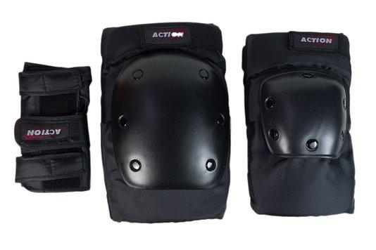 Kit Proteção Adulto Action Sports - Preto