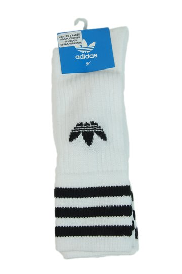 Meia Masculina Adidas Crew Kit com 3 Cano Longo - Branco