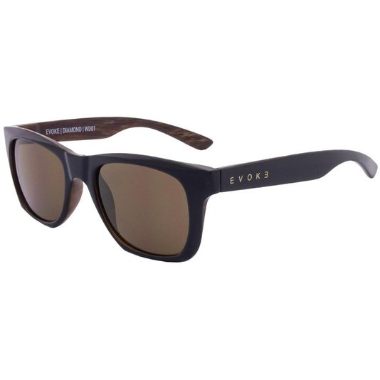 Óculos Evoke Diamond Brown Lenses - Black/Wood