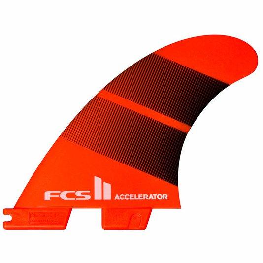 Quilha para Prancha de Surf FCS II Accelerator Neo Glass Tri-Quilha - Laranja/Preto