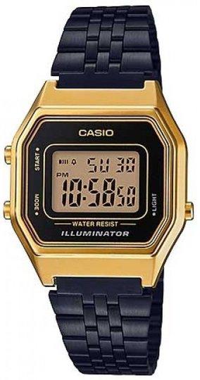 Relógio Casio LA680WEGB-1ADF Vintage Digital - Dourado/Preto