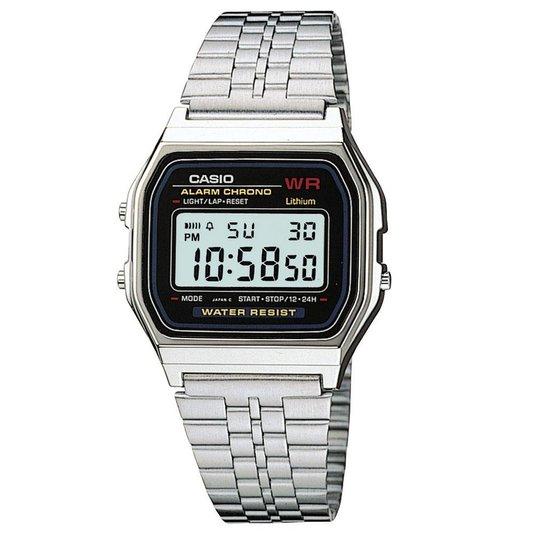 Relógio Casio Vintage Unisex Prata A159WA-N1DF