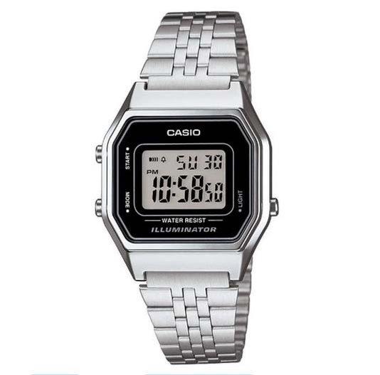 Relógio Casio Vintage Unisex Prata LA680WA-1DF