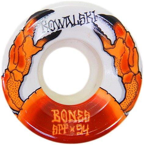 Roda Bones SPF Kowalski Crab 54mm - Branco/Laranja