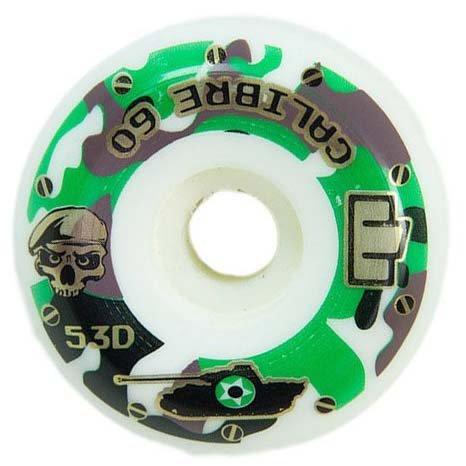 Roda Skateboard Moska Calibre 60mm - Branco/Camuflado