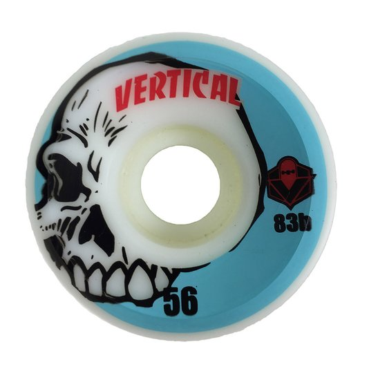 Roda Skateboard Vertical Skull 56mm com 83b Dureza - Azul