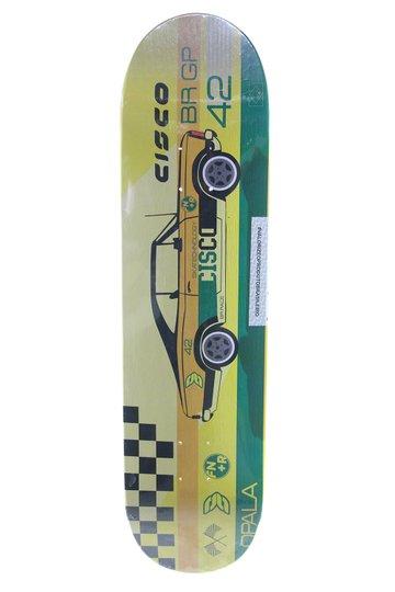 Shape Skateboard Cisco FN+R Gp Opala 8,0 - Amarelo/Verde