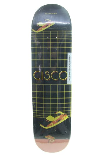 Shape Skateboard Cisco FN+R Wave Auto 7,75 - Preto/Laranja