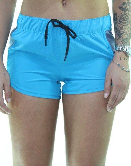 Shorts Feminino Hurley Block Party - Turquesa