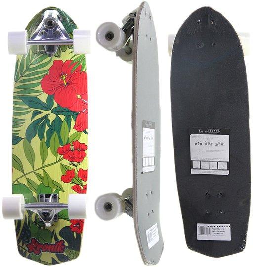 Simulador De Surf Kronik 9.5 Roses - Verde/Rosa