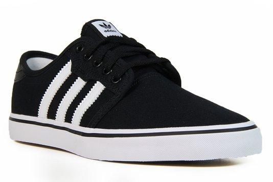 Tênis Feminino Adidas Seeley Cabedal - Black/White