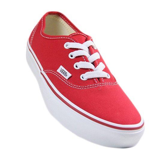 Tênis Feminino Vans Authentic - Red/White