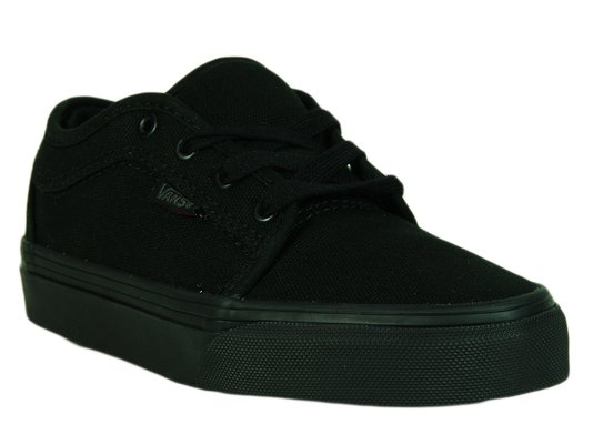 Tênis Infantil Vans Chukka Low (Blackout) - Black/Black