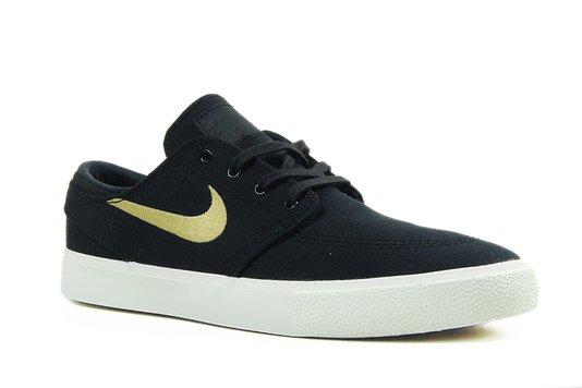 Tênis Masculino Nike SB Zoom Janoski Canvas RM - Black/Club Gold-Pale