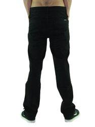 Calça Masculina de Sarja Grow Concha com Bolsos Laterais e Traseiros - Preto
