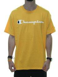 Camiseta Masculina Champion Classic Jersey Manga Curta - Amarelo