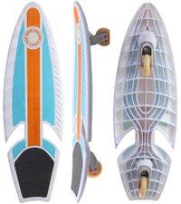 "Simulador De Surf RipSurf 32,2"" X 10,7"" - Branco/Laranja/Azul"
