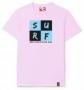 Camiseta Santo Swell Pink Chess Surfer de Algodão Estampada Manga Curta - Rosa Bebe