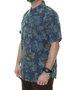 Camisa Masculina Vissla Strah Manga Curta - Azul Marinho
