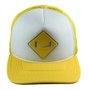 Boné Session Logotipo Unissex Snapback Trucker Aba Curva - Branco/Amarelo
