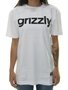 Blusinha Feminina Grizzly Lowercase Logo Manga Curta - Branco