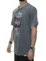 Camiseta Masculina Surfly Esqueleto Manga Curta - Grafite Mesclado