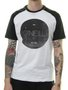 Camiseta Masculina Oneill Raglan Mars Manga Curta - Preto/Branco