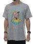 Camiseta Masculina Surfly Good Manga Curta - Cinza Mesclado