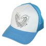 Boné Masculino South To South Trucker Snap Back Aba Curva - Azul/Branco