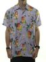 Camisa Masculina Dropdead Tropical Floral - Roxo
