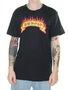 Camiseta Masculina Surfly Chama Manga Curta - Preto