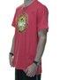 Camiseta Masculina Surfly Yellow Flower Manga Curta - Tomate Mesclado