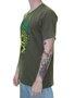 Camiseta Masculina Surfly Caveira Milho Manga Curta - Verde Militar